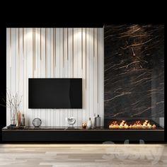 Tv Wall Design, Hall Design, Home Room Design, Home Interior Design, Tv Wall Decor, Wall Tv, Tv Unit Decor, Modern Tv Wall Units, Modern Tv Room