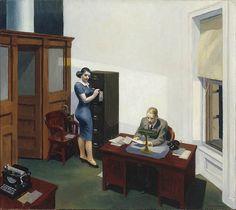 "Edward Hopper ""Office at Night"""