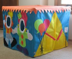 Card Table Playhouse, At the Carnival, Personalized, Custom Order