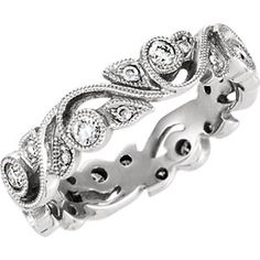 14kt White 1/4 CTW Diamond Eternity Band Bartelsmeyer Jewelry 620-223-2070 - bartelsmeyers@sbcglobal.net