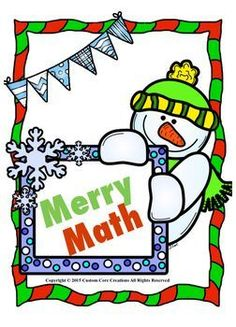 Merry Math. Great wintertime supplement to your curriculum. Includes: *3 Addition true or false sheets *2 Subtraction sheets *2 Multiplication sheets *2 Greater than, less than, or equal to sheets *1 Subtraction true or false sheets
