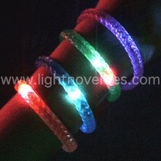 Light Up Bracelet - Braided - Flashing Rainbow LED