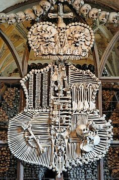 A Chandelier In The Bone Church Evora Portugal