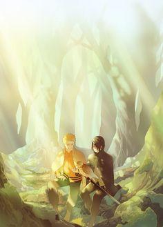 Sasuke & Naruto, pixiv