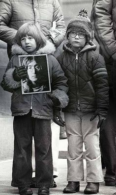 1980: Murder of John Lennon. I was about as young as these kids, my daughter's age now, when I heard the news break on TV and my mom and I cried.