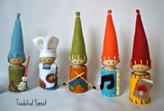 CHOOSE FOUR Waldorf Daily Rhythm Gnomes by TheToadstoolForest