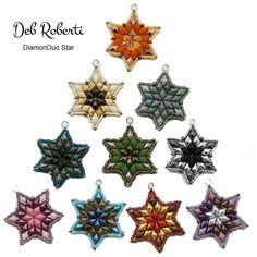 Deb Roberti's DiamonDuo Ornament & Pendant Pattern