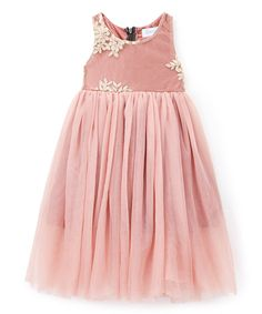 This Just Couture Rose Leaf-Applique A-Line Dress - Infant, Toddler & Girls by Just Couture is perfect! #zulilyfinds