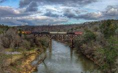 Railroad Bridge in Garden City Alabama.