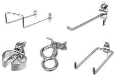 64 Pc Zinc Plated Steel Hook Assortment for DuraBoard or 1/8 In. and 1/4 In. Pegboard
