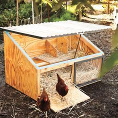 Get the free plans for for an ultra-stylish DIY chicken coop from the fantastic book of chicken coop designs, Reinventing the Chicken CoopWe built two Icebox chicken coops with City Slicker Farms in West Oakland, California. The coops now reside in … Small Chicken Coops, Diy Chicken Coop Plans, Easy Chicken Coop, Chicken Coup, Portable Chicken Coop, Chicken Coop Designs, Backyard Chicken Coops, Building A Chicken Coop, Chicken Runs