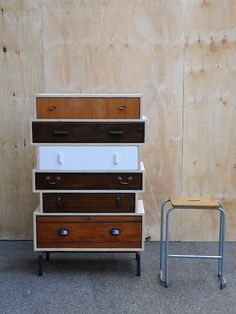 A modern take on the traditional Victorian chest of drawers.  created by: Rupert Blanchard  origin: Shoreditch, London