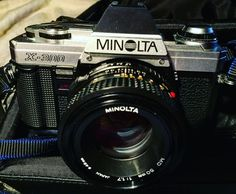 Minolta X300 SLR with the nice f1.7/50 lens I like the bokeh it produces. Not used since 2000 or so. Has been my workhorse in the b/w film class at school. Battery is still good! Everything works as it was last used yesterday. #minolta #minoltax300 #minolta17 #minoltamd50mm #minolta50mm17 #staybrokeshootfilm #filmisnotdead #135film #135filmcamera #ishootfilm