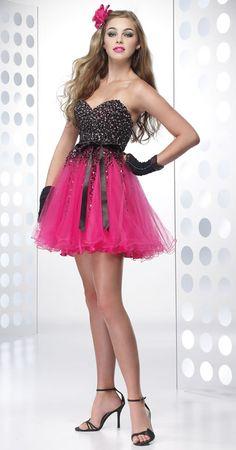 Hot Pink Dress Prom Dress Short Formal Strapless Bridesmaid Dress ...