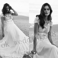 2016 Beach Boho Maternity Wedding Dresses Chiffon Bohemian Bridal Gowns Custom
