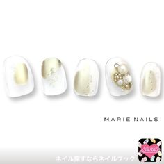 different shaped nails Fancy Nail Art, Trendy Nail Art, Fancy Nails, New Year's Nails, Get Nails, Hair And Nails, Foil Nail Art, Foil Nails, White Nails