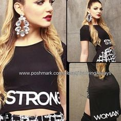New Strong Woman T-Shirt Hi-Lo Hi-lo shirt very trendy t-shirt. Comes in Small, Medium and large. Woman's Touch Apparel Tops Tees - Short Sleeve