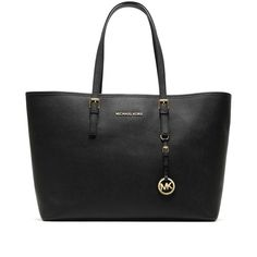 MICHAEL MICHAEL KORS Jet Set Travel Leather Multifunction Tote Bag found on Polyvore
