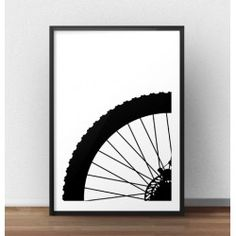 Plakat z fragmentem koła roweru górskiego