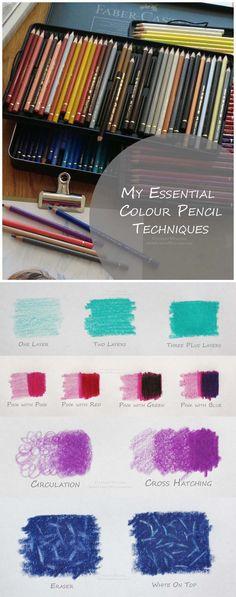Essential Colour Pencil Technqiues