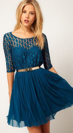 I kinda love this as bridesmaids dresses minus the gold belt...maybe a different color?