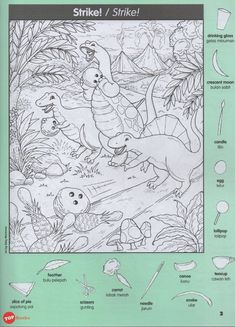 Pelangi18-Highlights Hidden Pictures Dinosaur Puzzles Favourite Buku 2 – Topbooks Dinosaur Projects, Dinosaur Puzzles, Pre K Activities, Craft Activities For Kids, Hidden Pictures Printables, Highlights Hidden Pictures, Hidden Picture Puzzles, Solar System Crafts, Computer Basics