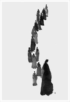 먹그림 작업들 #먹그림 #먹일러스트 #필몽 #위즈덤하우스 #삽화 #의순공주 Sumi E Painting, Korean Painting, Figure Painting, Art And Illustration, Illustrations, Tinta China, Korean Art, China Art, Artist Art