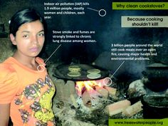 Why clean cookstoves? Because cooking shouldn't kill!
