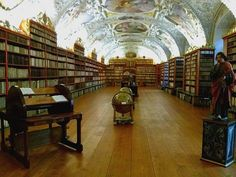 Strahov Monastery Library in #Prague. So beautiful! More images of Prague here: http://www.footprintsandmemories.com/2017/01/09/beautiful-prague-pictures/