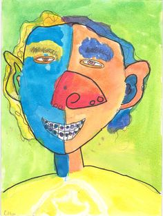 Chloe Chris, Picasso-style self-portrait, raising funds for trip to Kenya - read more here http://www.gofundme.com/knu0j0