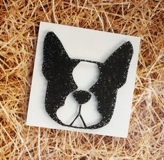 French Bulldog Handmade String Art Unique gift Home Decor Wall Hanging Dog picture Doggy frenchie gift by DeeisforDaisy on Etsy
