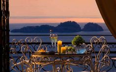 Romantic Dinner at Sunset.