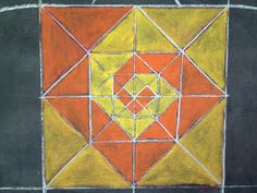 Construction and deconstruction of a square. Grade 6, geometric drawing.
