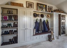 Bespoke Boot Rooms Bespoke Boot Rooms,Shananagh Ali/Mark Bespoke Boot Rooms Related posts:Mudroom Ideas - DIY Rustic Farmhouse Mudroom Decor, Storage and Mud Room Designs We Love - Clever DI. Boot Room Storage, Hallway Storage, Mudroom Laundry Room, Laundry Room Design, Orangerie Extension, Boot Room Utility, Utility Room Designs, Country House Interior, Dog Rooms