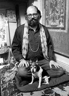Allen Ginsberg doing some meditation in good company