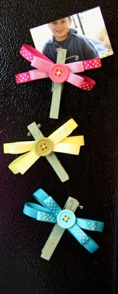 HOW TO: Dragonfly Ribbon Magnets - by Cindy Stevens using American Crafts ribbon.