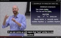Rhyming in ASL