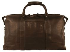 """14"""" Leather Carriage Bag, Brown   The Jet Set   One Kings Lane"""