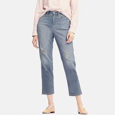 Uniqlo Women's High-rise Boyfriend-fit Jeans Boyfriend Fit Jeans, Mom Jeans, Denim Pants, Uniqlo, Promotion Strategy, Womens Fashion, Fitness, Denim Jeans
