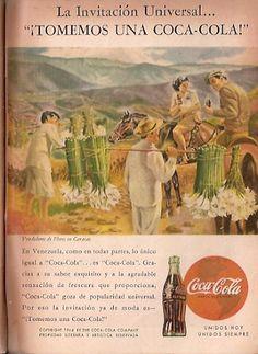 Coca Cola- Publicidad Gráfica Revista Selecciones 1944 - Venezuela