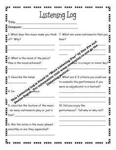 worksheet music appreciation worksheets hunterhq free printables worksheets for students. Black Bedroom Furniture Sets. Home Design Ideas