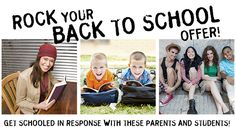 Rock Your BACK TO SCHOOL Offer!
