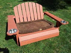 Potential Christmas Present :)    Adirondack Dog Beds by OhioAdirondackdotcom on Etsy, $150.00
