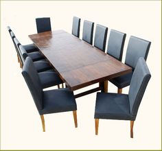 large dining room table - with lighter wood/different color chair