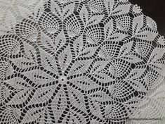 Crochet doily Lace napkin Round White doilies Knitted