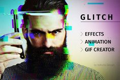 Glitch effect with GIF animation by Kahuna Design on @creativemarket