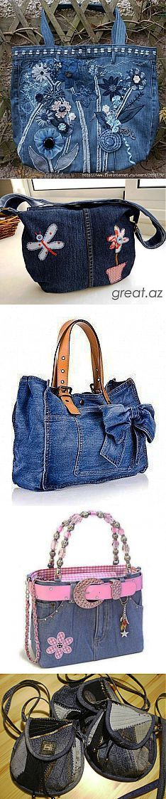 Beautiful upcycled jeans bags