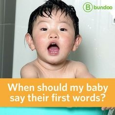 """If your baby babbles """"mama,"""" does it count as his first word? See our speech therapist's criteria for what counts as a first word, and at what age you should expect it."""