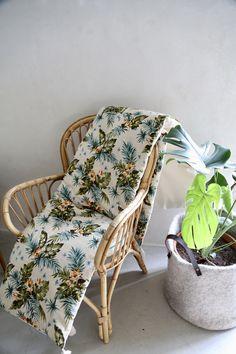 Sofa Cover - Collection capsule été 2018 - Création HL - Héloïse Levieux Textiles, Collection Capsule, Wicker, Creations, Chair, Furniture, Home Decor, Objects, Decoration Home