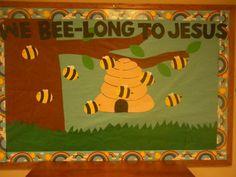We Belong to Jesus Display, classroom displays, class display, religion, Jesus, christian, bee, Early Years (EYFS), KS1 & KS2 Primary Teaching Resources